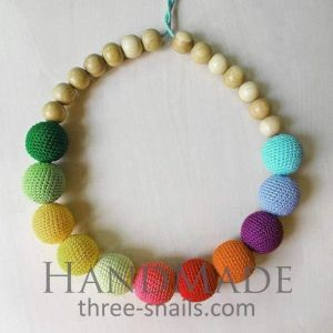 "Teething necklaces ""Colors of rainbow"""