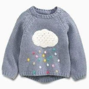Toddler knitted sweater with applique