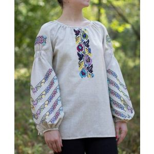 Traditional woman blouse. Ukrainian embroidery