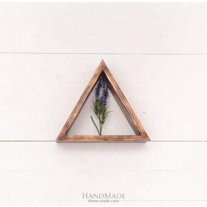 Triangular  wooden shelf  natural view