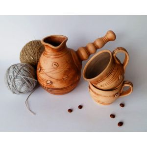 "Turkish coffee pots and mugs set ""Coffee break"""