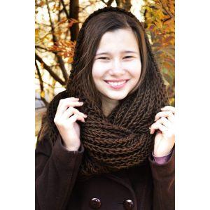 "Turtleneck scarf ""Hot Chocolate"""