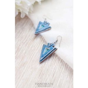 "Unique earrings ""Triangles"""