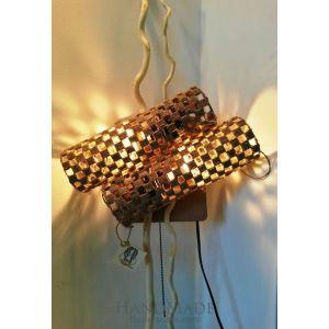 Wall luminaire designer lamp «Wood Energy»