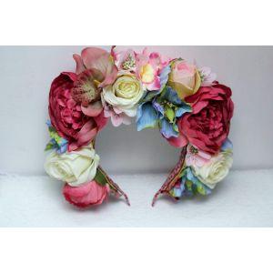 "Wedding floral rose crown ""Romantic date"""