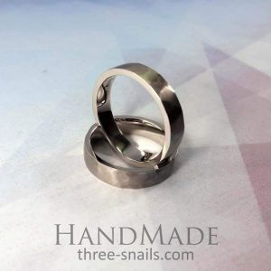 Wedding ring set. Silver wedding bands his and hers