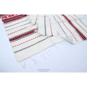 "White cloth napkins ""Little pattern"""