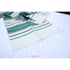 "White cotton napkins ""Turquois pattern"""