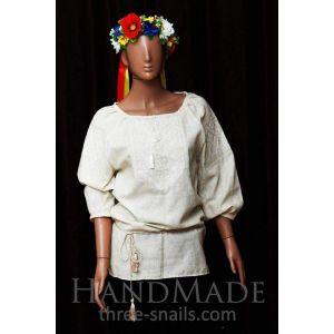 White embroidered woman blouse (vyshyvanka)