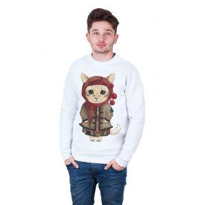 White Man Sweatshirt «She-kitty»