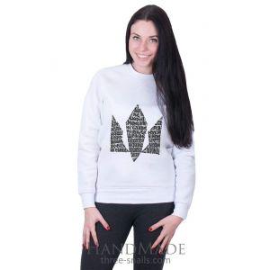 White Woman Sweatshirt «Hymn»