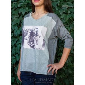 "Woman long sleeve shirt ""Just married"""