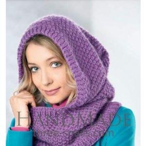 Women hooded scarf