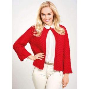 Women red cardigan