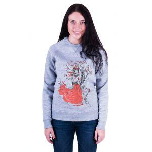 Womens designer clothing. Sweatshirt «Guelder rose» (grey)