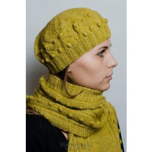 """Womens hat and scarf set""""Olive twist"""""""