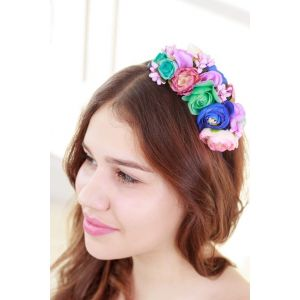 """Womens headbands """"Colorful roses"""""""