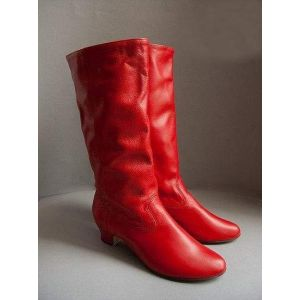 Women's red dance boots