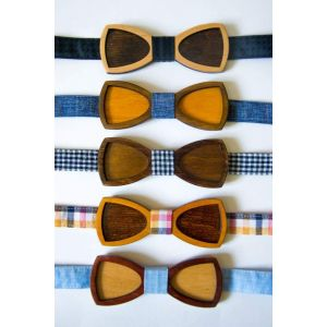 Wood bow tie novelty