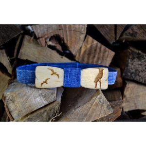 Wood bow tie wedding