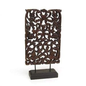 Wood décor panel stand