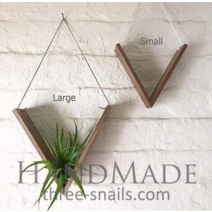 Set of Wood Plant Hangers
