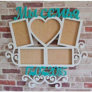 "Wood wall art decor ""Romantic date"""