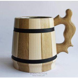 """Wooden beer mug """"Freedom"""""""