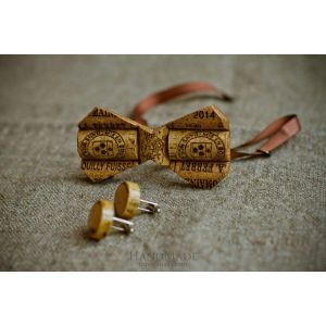 "Wooden bow tie cork ""Hipster style"""