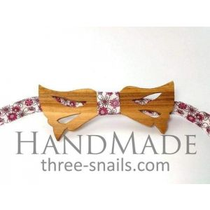 "Wooden bow-tie ""Flowers"""