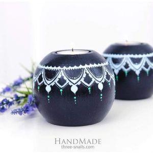 "Wooden candlesticks ""Morning star"""