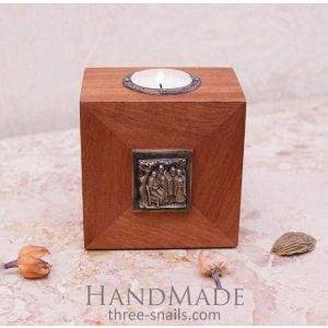 """Wooden candlholder""""Luxury"""""""