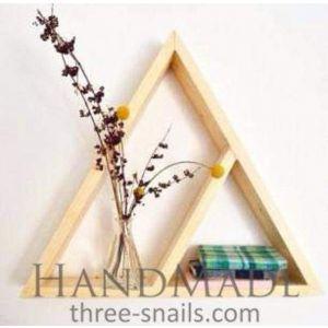 "Wooden geometric shelf ""Triangle"""