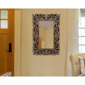 Wooden handicraft mirror