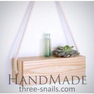 Wooden hanging shelf rustic