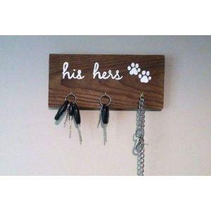 Wooden hook rack