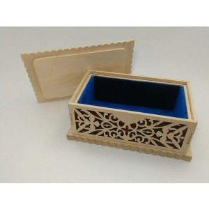 "Wooden jewelry box ""Velvet cuddles"""