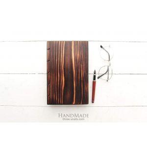 "Wooden notebook light brown ""Everyday plan"""