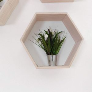 "Wooden wall shelf ""Hexagon"""