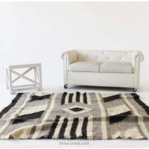 "Wool area rug ""Gray"""