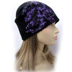 "Wool hat ""Purple night"""
