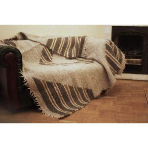 """Wool throw blanket  """"Rhombic"""""""