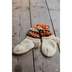 "Woolen knitted socks ""Elfes"""
