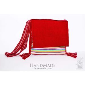 "Woven ethno bag ""Red passion"""