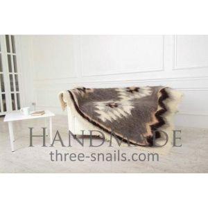"Woven handmade blanket ""Mountain eye"""