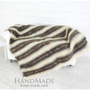 "Woven handmade blanket ""Snowy land"""