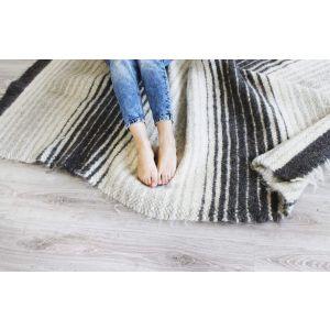 "Woven rug ""Gray gradient"""