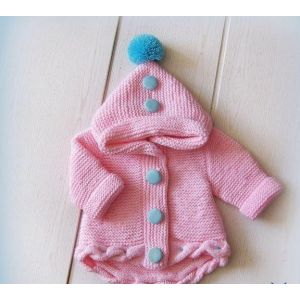 Baby girl pink knitted cardigan