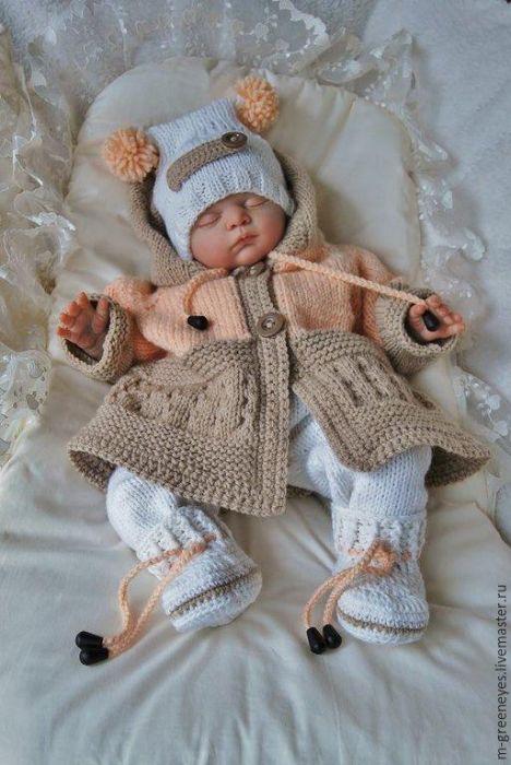Handmade Crochet Baby Sweater Sets