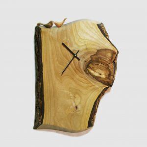 Large rustic wooden clock brown